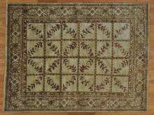 8'x10' Modern Nepali 100% Wool French Design Oriental Rug Handmade