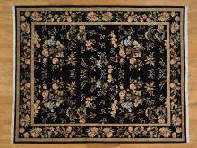 8'x10' Wool and Silk 300 kpsi Botanical Design Handmade Oriental Rug