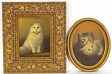 2 KURT URION PAINTINGS of CATS