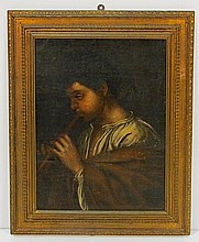 18th c. ITALIAN OIL PAINTING of YOUNG BOY