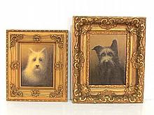 2 KURT URION PAINTINGS of DOGS