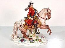 19th c. MEISSEN FIGURE KING LOUIS on HORSEBACK