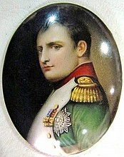 SMALL PAINTING on PORCELAIN of NAPOLEON