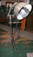 Wrought Iron Floor Lamp with A & C Shade