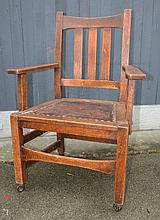 Stickley Brothers Office Arm Chair