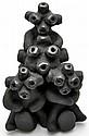 Santa Clara Black Pottery Mudhead Doll - Paul & Dorothy Gutierrez
