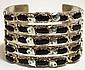 Zuni Onyx Sterling Silver Snake Cuff Bracelet - Effie Calavaza