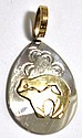 Navajo 12k Gold Filled Bear Sterling Silver Pendant - Roger Jones