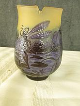 AFTER GALLE FRENCH CAMEO GLASS SIGNED 5