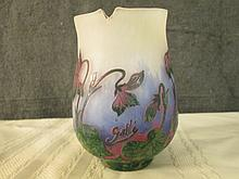AFTER GALLE FRENCH SIGNED CAMEO GLASS 4.75
