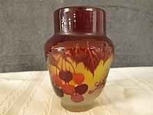 AFTER GALLE FRENCH SIGNED CAMEO GLASS 3.75