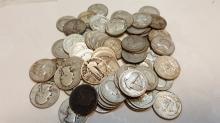 Lot of 66 Pre-64 US quarters $16.50 face
