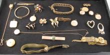 LOT OF VINTAGE GOLD FILLED JEWELRY