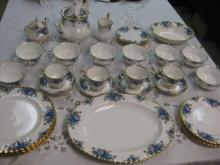 ROYAL ALBERT MOONLIGHT ROSE CHINA SERVICE