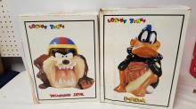 Looney Tunes Daffy Duck & Tas Devil Cookie Jars