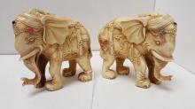 Pair heavily carved Indian 4