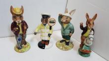 Lot of 4 Doulton Bunnykins figurines
