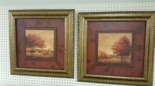 Pair framed pictures by Jill Schultz McGannon