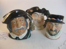 LOT OF 3 ROYAL DOULTON TOBYS
