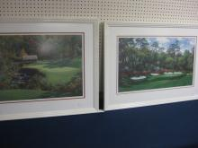 LOT OF 2 LARRY DYKE SIGNED & #'RD GOLF LITHOGRAPHS
