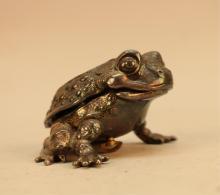 Antique Reed & Barton Musical Frog Box