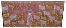 Vintage Large Batik of Figures & Animals