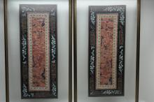 Pair of Framed Chinese Tapestries