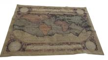 20th C. Tapestry of World Map