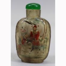 Signd Reverse Painted Antique Chinese Snuff Bottle