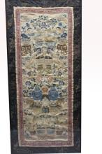 Antique Framed Chinese Embroidery Sleeve