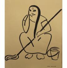 Jean Merlini (20th C.) Ink/Paper