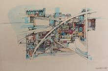 Charles Goldsmith (20th C) Watercolor/Ink