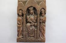 Antique Carved Plaque of the 3 Wise Men