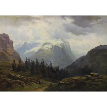 19th C. Italian Landscape w/ Figure, Oil/Board