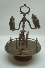 Antique Austrian Vienna Cold Painted Bronze Owls