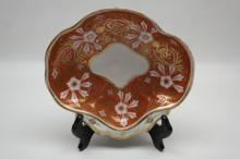 English Coalport/Worcester Shaped Dish Circa 1820