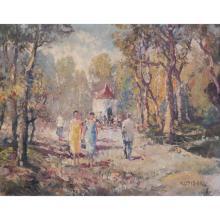 Fritz Klaiberg (German,1921 - 1998) Oil/Canvas