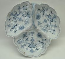 Austrian Blue Onion Pattern Serving Dish