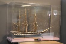 Rare Large Antique Ship Model, 28 Gun Frigate