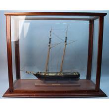 New York Harbor Pilot Boat Ship Model w/Case