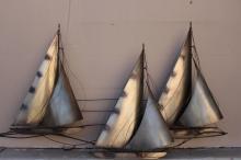 Signed C. Jere Bronze Ship Model
