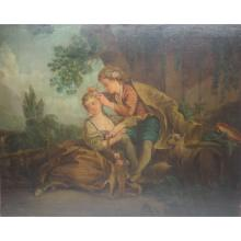 18th C. French Lovers w/ Animals