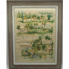 Julio De Diego (1900-1979) Watercolor