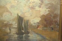 Friedrich Rogge (20th C.) Oil/Canvas