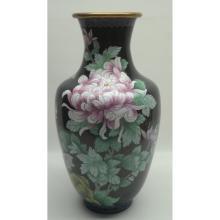 Large Chinese Cloisonne Vase 'Famille Noise'