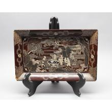 20th C. Chinese Mother of Pearl Inlaid Tray