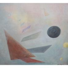 Geometric Painting Signed Lower Right