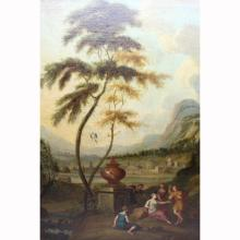 18th C. Italian Old Master Landscape with Figures