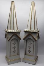 Pair 19th C. French Carved Architectural Elements