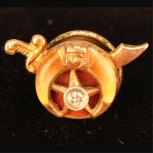 Diamond Studded Masonic Tie Clasp